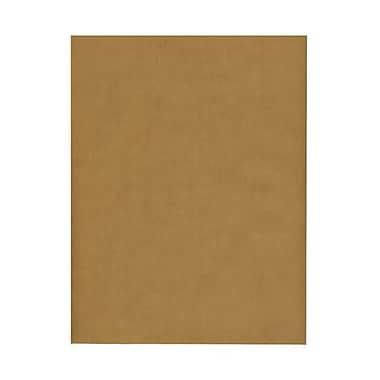 JAM Paper® 8 1/2in. x 11in. Booklet Translucent Paper w/Gum Closure, Earth Brown, 100/Pack