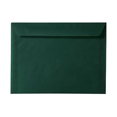 JAM Paper® 9in. x 12in. Booklet Translucent Envelopes, Racing Green, 25/Pack