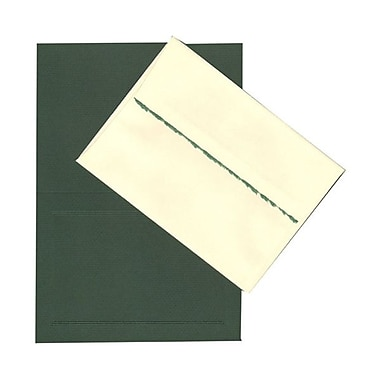 JAM Paper® Deckle Edge Foldover Set, Green