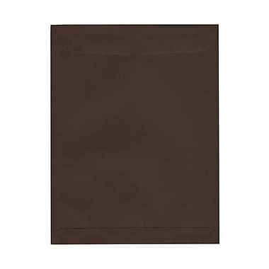 JAM Paper® 10 x 13 Open End Catalog Envelopes, Chocolate Brown Recycled, 25/Pack (212815972)