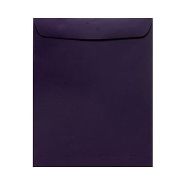 JAM Paper® 10 x 13 Open End Catalog Envelopes, Dark Purple, 1000/Pack (1287032B)