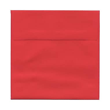 JAM Paper® 6.5 x 6.5 Square Envelopes, Brite Hue Red Recycled, 100/Pack (02792283B)