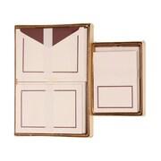 JAM Paper® Colorful Border Stationery Set Combo, 50 Large Cards Envelopes, 100 Small Cards Envelope, Purple,100/set (2237719068)