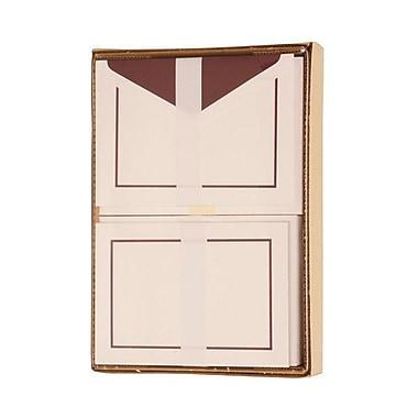 JAM Paper® Colorful Border Stationery Set, 52 Large Cards and 50 Envelopes, Purple (2237719074)