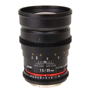 Bower® SLY35VD Wide-Angle 35mm T/1.5 Cine Lens for Nikon Cameras