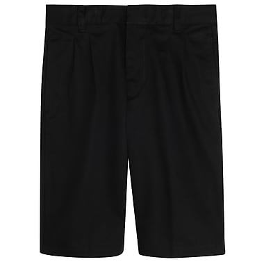French Toast Boys Pleated Adjustable Waist Short, Black, Size 10