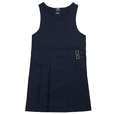 French Toast Girls Twin-Buckle Tab Jumpers, Navy