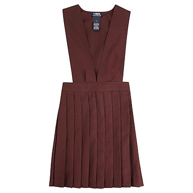 French Toast Girls V-Neck Pleated Jumpers, Burgundy