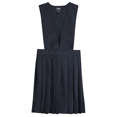 French Toast Girls V-Neck Pleated Jumpers, Navy