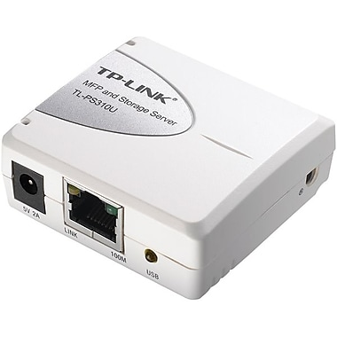 TP LINK® TL-PS310 Single USB 2.0 Port MFP Storage Server, 4 Ports