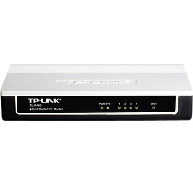 TP-LINK TL-R460 Advanced 4-Port Cable/DSL Router, 1 WAN port, 4 LAN ports