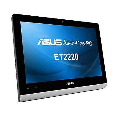 Asus® ET2220IUTI Intel® Quad Core™ i5-3330 3 GHz Touchscreen All-in-One Computer Kit, Black