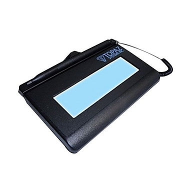 Topaz SignatureGem T-L462 1in.x5in. Electronic Signature Capture Pad, Serial (T-LBK462-B-R)