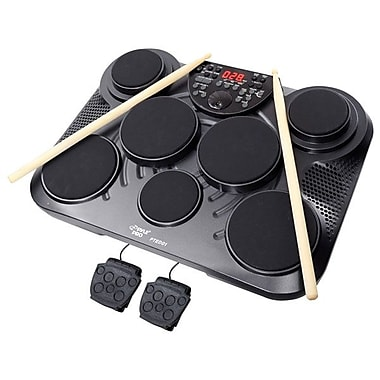 Pyle 7 Pad Electronic Table Digital Drum Kit Top
