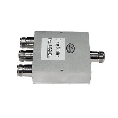 Premiertek PS-082503 50 W 3 Way Signal N Female Power Splitter, 800 - 2500 MHz