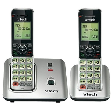 VTech® CS6619-2 Two Cordless Phone With Caller ID/Call Waiting, 50 Name/Number