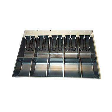 APG Cash Drawer® – Caisse verrouillable en acier à 5 compartiments pour billets, et 5 pour pièces de monnaie