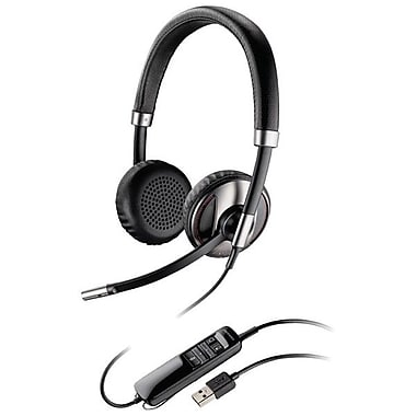 Plantronics® Blackwire 500 C520 Binatural Headset, Black