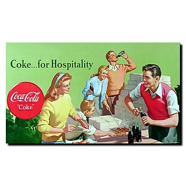 Trademark Fine Art Coke for Hospitality Stretched Canvas Art , CW0135-C1424GG
