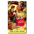 Trademark Fine Art Take Coke Along Stretched Canvas Art