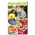 Trademark Fine Art Picnic with Coke Stretched Canvas Art , CW381-C1424GG