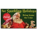 Trademark Fine Art Coke Santa w/ Rabbit For Sparkeling Holidays-