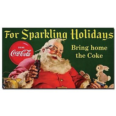 Trademark Fine Art Coke Santa w/ Rabbit For Sparkeling Holidays-
