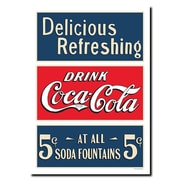 Trademark Fine Art Soda Fountain Stretched Canvas Art-Inches 18x24 Inches