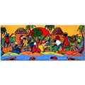 Trademark Fine Art Caribbean Armory-Ready to Hang Art 14x32 Inches