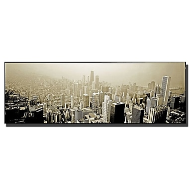 Trademark Fine Art Chicago Skyline by Preston-Ready to Hang Art 16x47 Inches