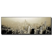 Trademark Fine Art Chicago Skyline by Preston-Ready to Hang Art