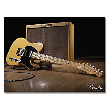 Trademark Fine Art Fender 'Telecaster and the Blues' Canvas Art