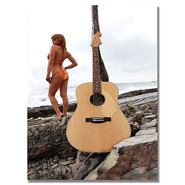 Trademark Fine Art Fender 'Acoustic at the Beach' Canvas Art