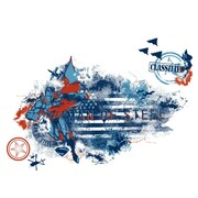RoomMates Superman Man of Steel Distressed Flag Peel and Stick Giant Wall Decal