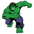 RoomMates Marvel Classic Hulk Peel and Stick Giant Wall Decal, Green