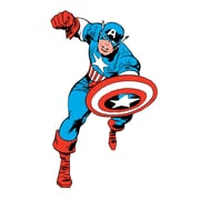 RoomMates Marvel Classic Captain America Peel and Stick Giant Wall Decal