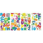 RoomMates Peel and Stick Wall Decal, Lazoo Alphabet and Numbers