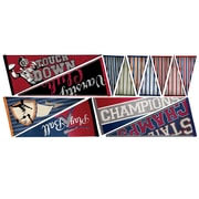 RoomMates Varsity Pennants Peel and Stick Giant Wall Decal
