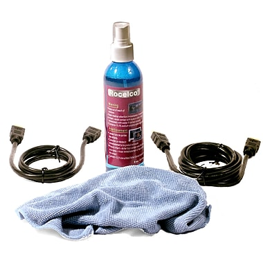 Rocelco® 3.3', 6.6' High Performance HDMI™ 1.4 Combo Pack & Bonus 8 oz. Screen Cleaner