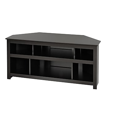 Prepac™ Vasari 50in. Corner Flat Panel Plasma /LCD TV Console, Black