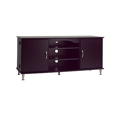 Prepac™ Premier 60in. Large Flat Panel Plasma /LCD TV Console With Media Storage, Black