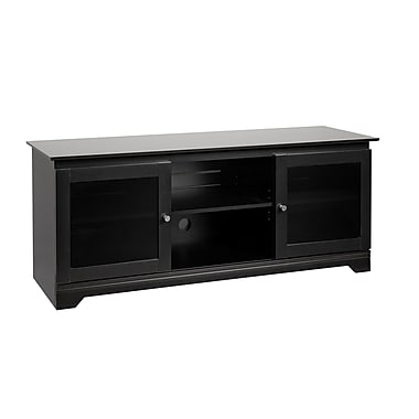 Prepac™ Francesca 60in. Flat Panel Plasma /LCD TV Console, Black