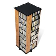 Prepac™ 4-Sided Spinning Tower, Oak and Black