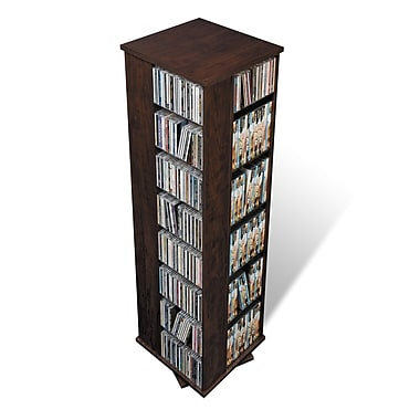 Prepac™ Large 4-Sided Spinning Tower, Espresso
