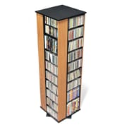 Prepac™ Large 4-Sided Spinning Tower, Oak and Black
