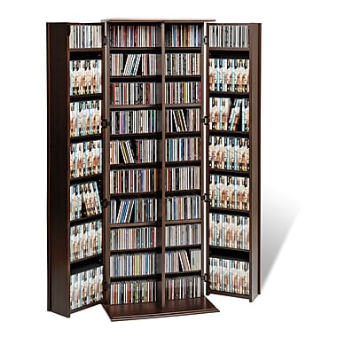 Prepac™ Grande Locking Media Storage Cabinet With Shaker Doors, Espresso