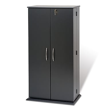 Prepac™ Tall Locking Media Storage Cabinet, Black
