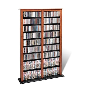 Prepac™ Double Width Barrister Tower, Cherry and Black