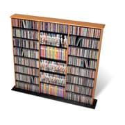 Prepac™ Triple Width Wall Storage, Oak and Black