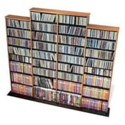 Prepac™ Quad Width Wall Storage, Oak and Black